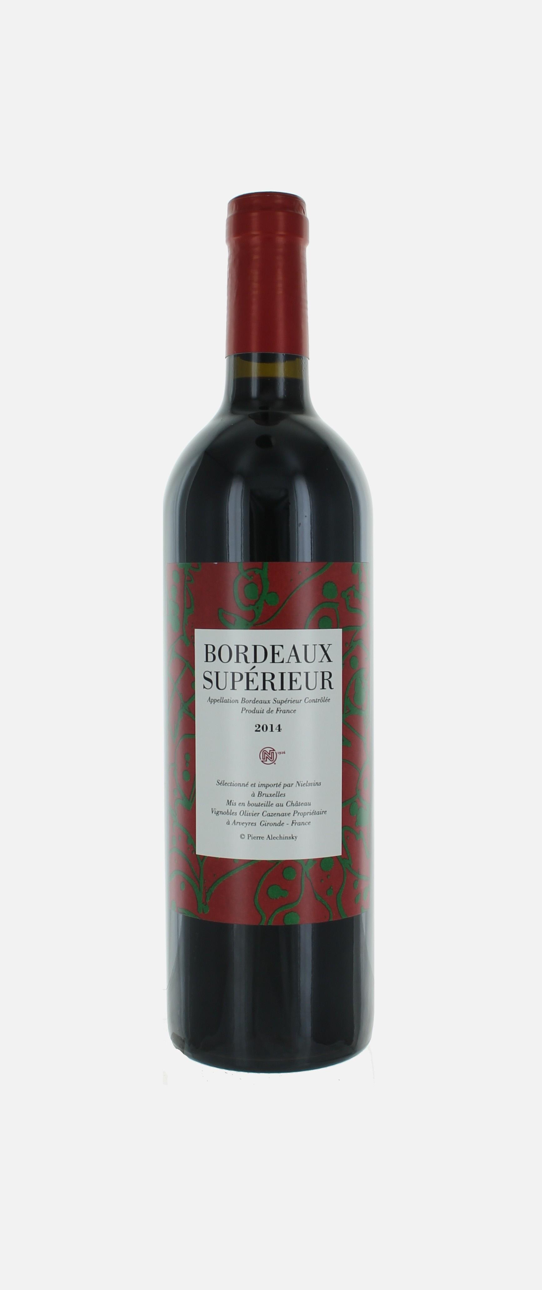 Bordeaux étiquette  Alechinsky, Olivier Cazenave