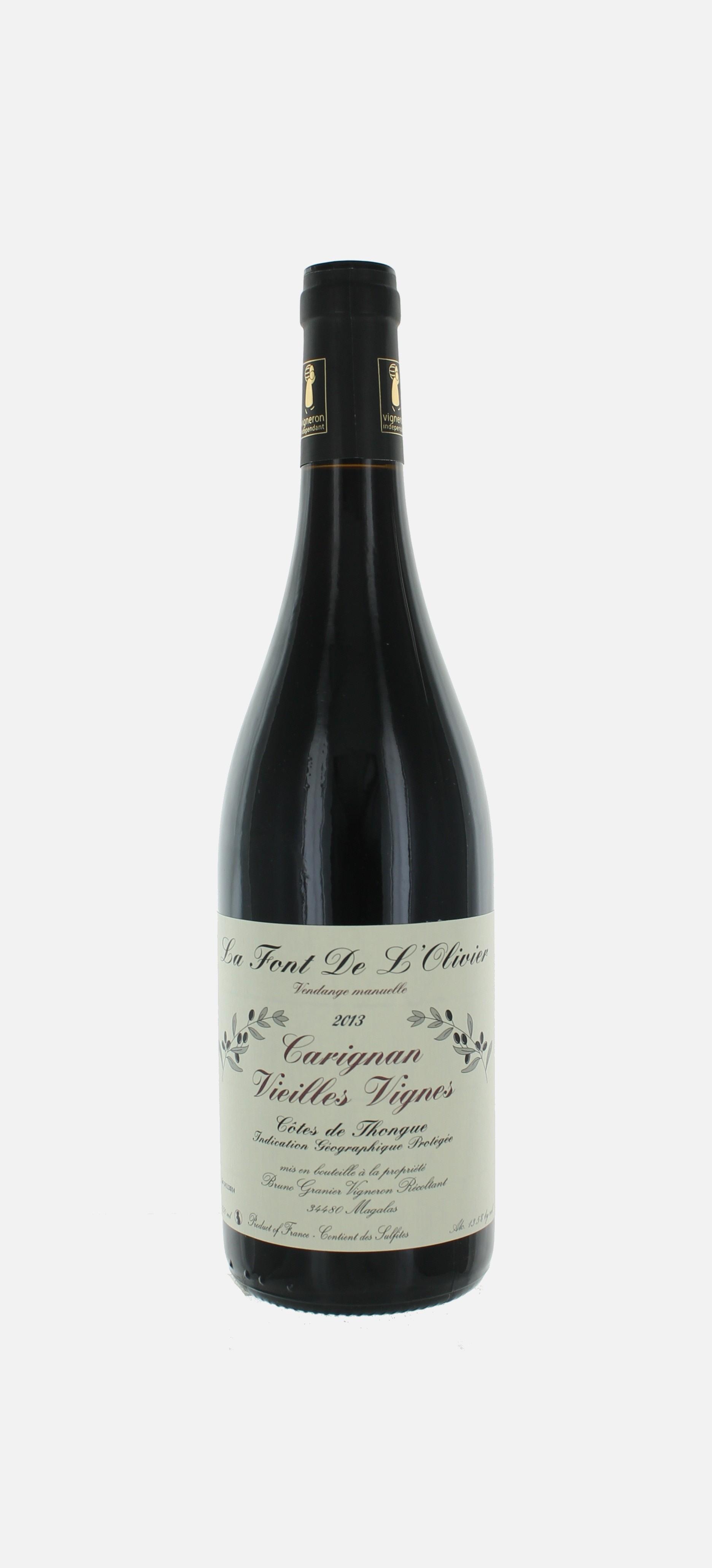 Carignan, Vieilles Vignes ,la Font de l'Olivier