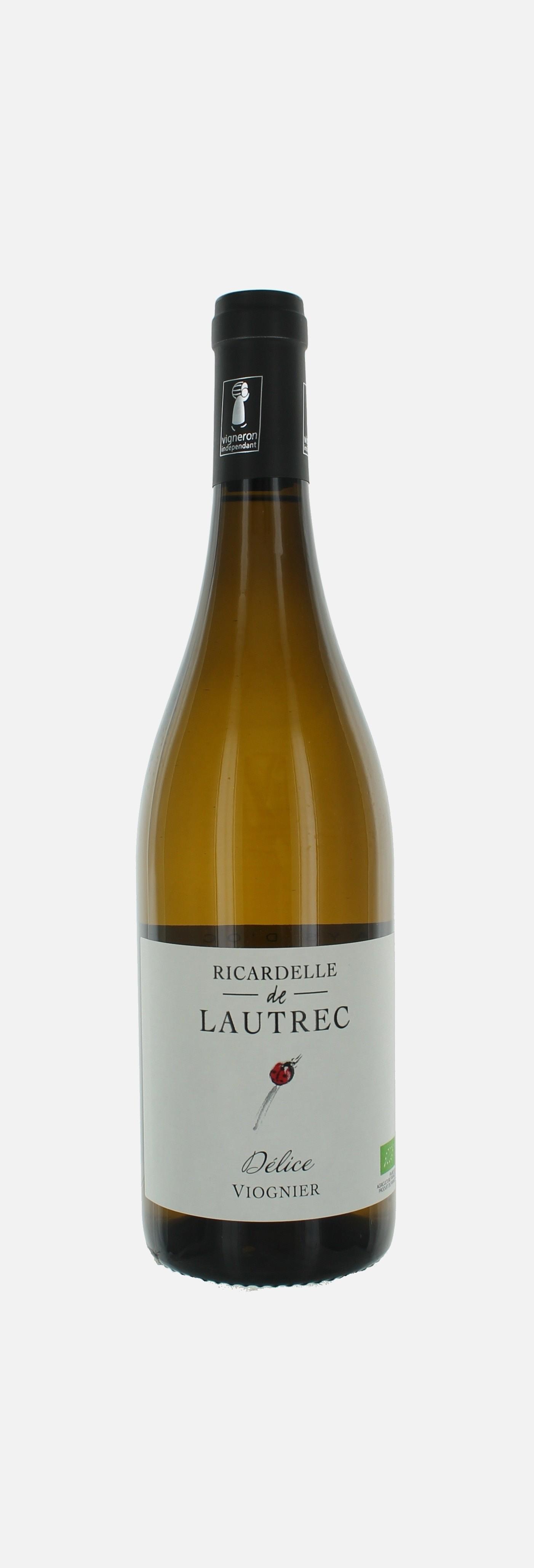 Délice Viognier, IGP d'OC, Ricardelle de Lautrec