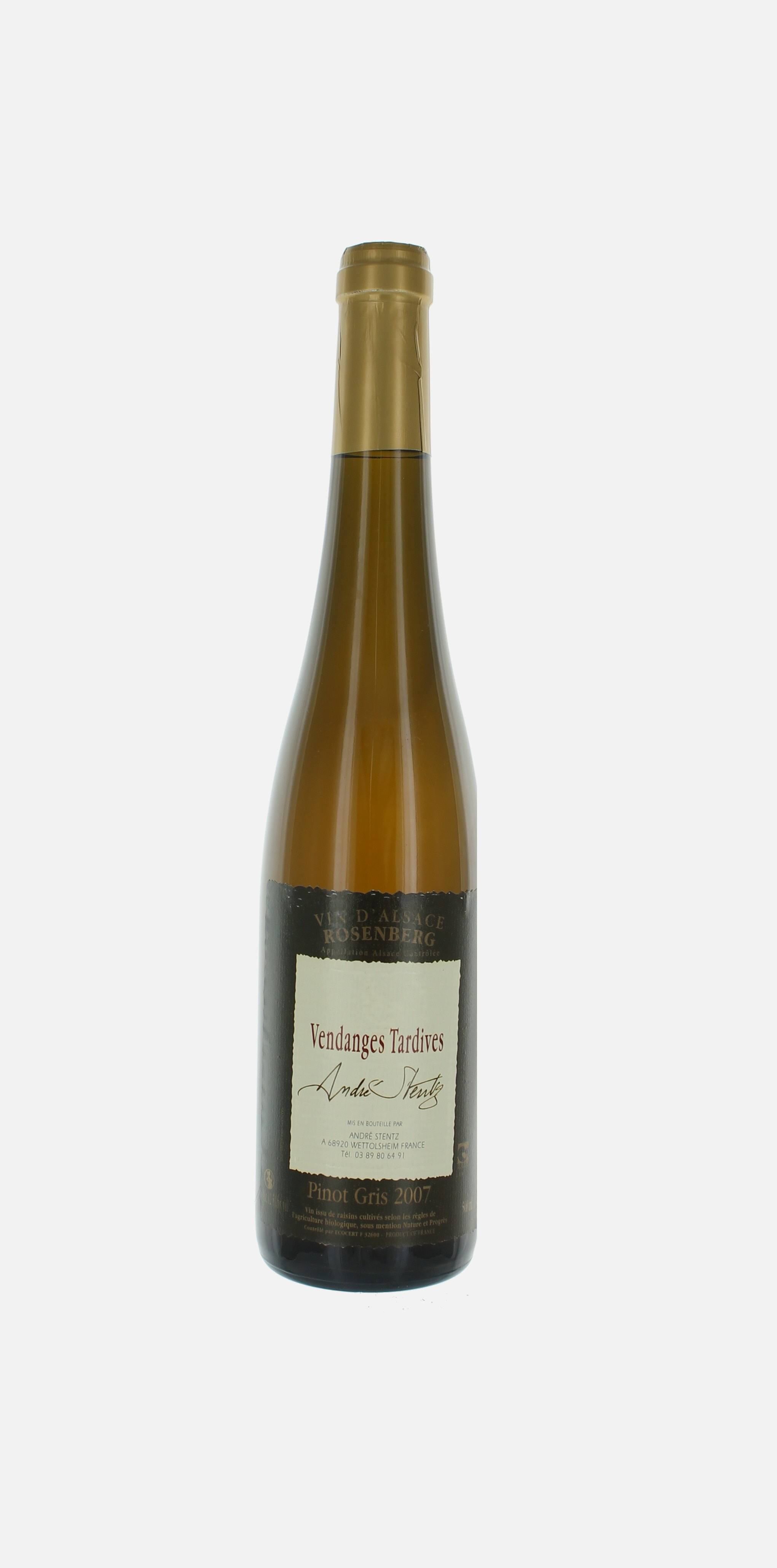 Pinot Gris Rosenberg, Vendanges Tardives, Stentz