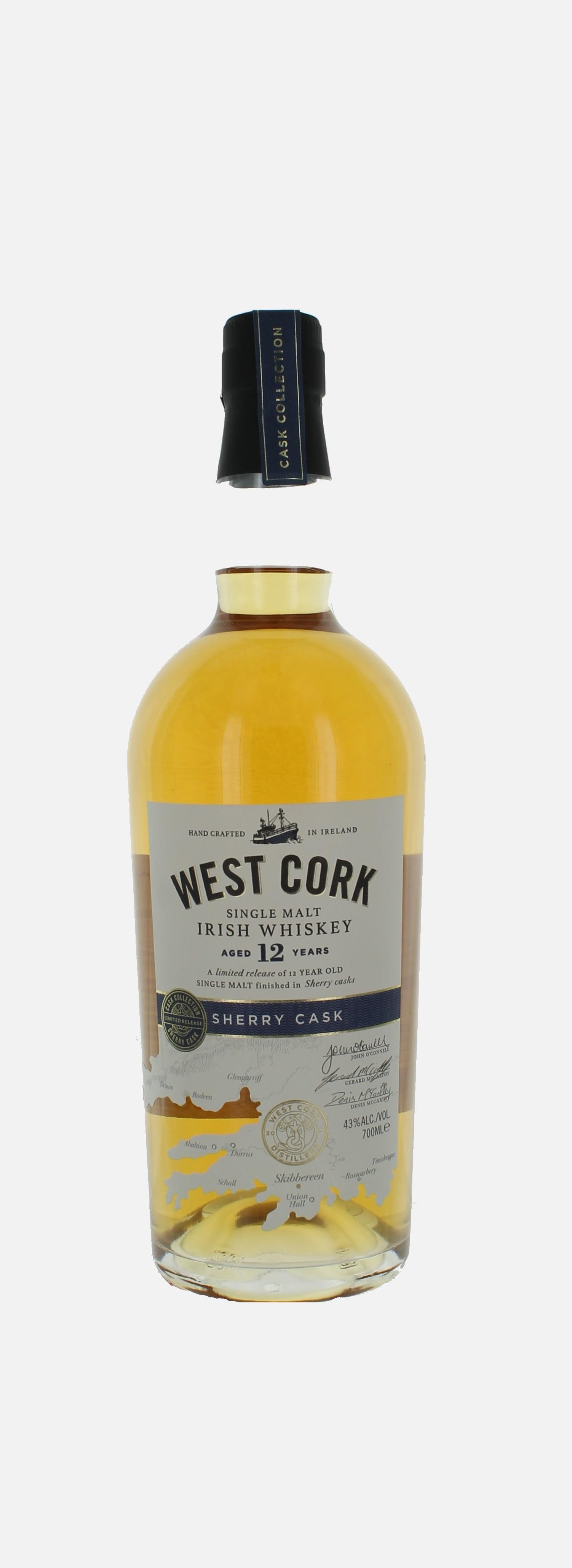 West Cork Port cask 12 , Single Malt Irish Whiskey