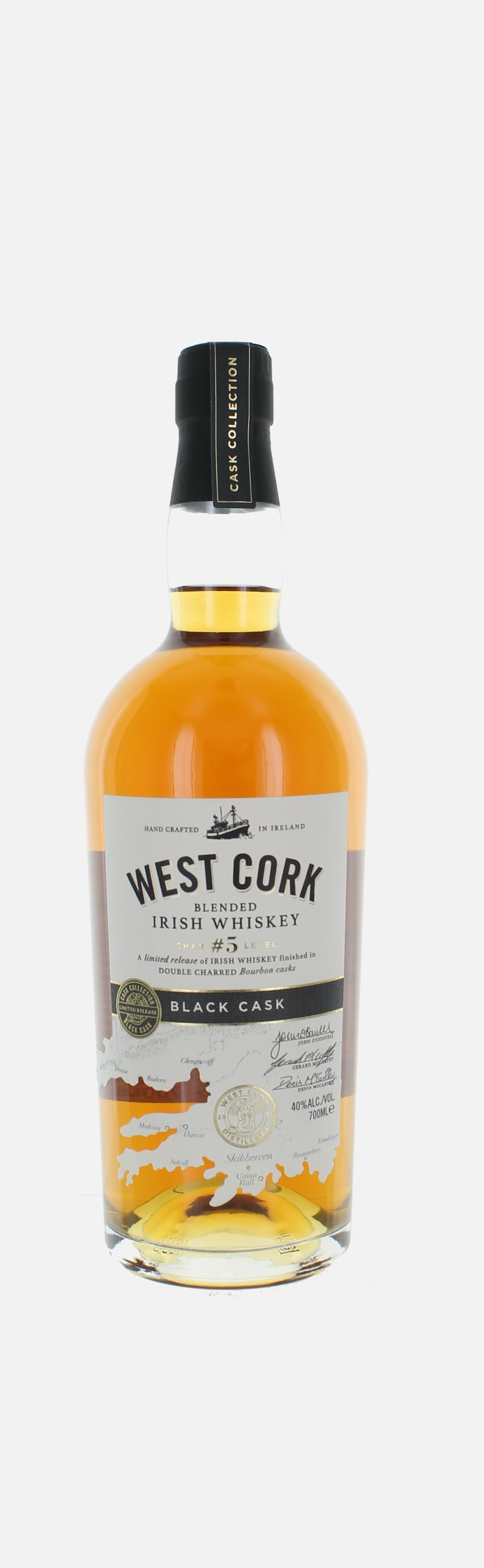 West Cork Black cask, Blended Irish Whisky